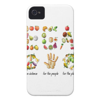 Vegan Emoji Collage Earth Animals People Peace Case-Mate iPhone 4 Case
