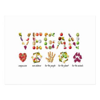 Vegan Emoji Collage Earth Animals People Peace Postcard