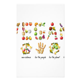 Vegan Emoji Collage Earth Animals People Peace Stationery