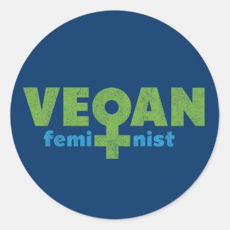 Vegan Feminist Stickers