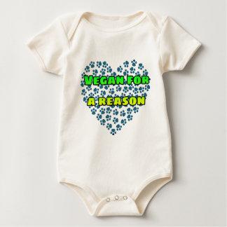 Vegan for a reason baby bodysuit