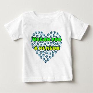 Vegan for a reason baby T-Shirt