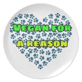 Vegan for a reason plate