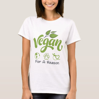 Vegan For A Reason Short Sleeve Basic T-Shirt