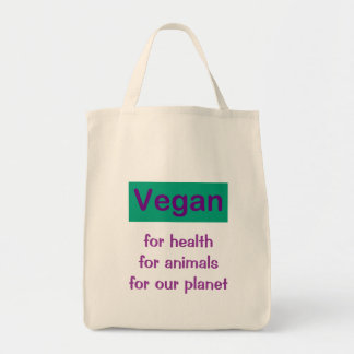 Vegan: For Health, Animals & Planet Tote Bag