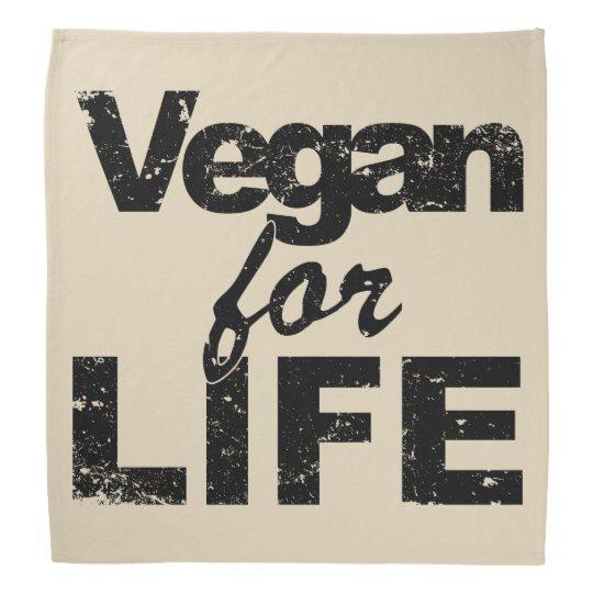 Vegan for LIFE (blk) Bandana