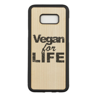 Vegan for LIFE (blk) Carved Samsung Galaxy S8+ Case