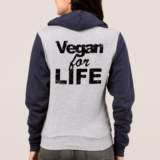 Vegan for LIFE (blk) Hoodie