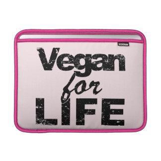 Vegan for LIFE (blk) MacBook Sleeve