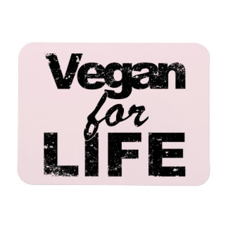 Vegan for LIFE (blk) Magnet