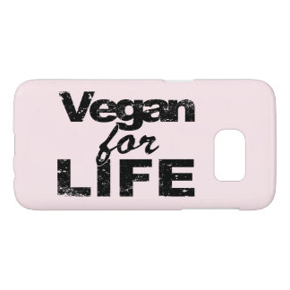 Vegan for LIFE (blk) Samsung Galaxy S7 Case