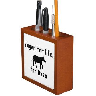 Vegan for life desk organizer