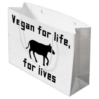 Vegan for life large gift bag