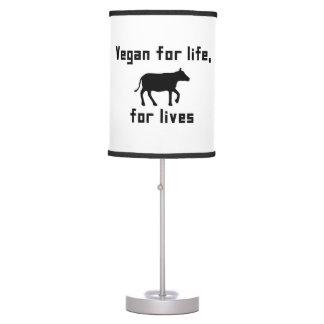 Vegan for life table lamp