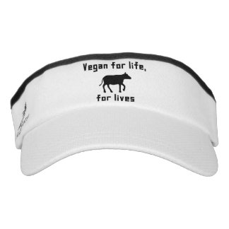 Vegan for life visor
