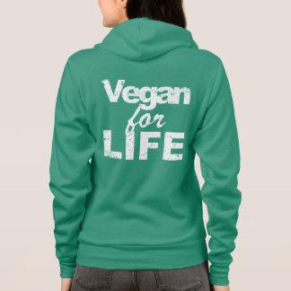 Vegan for LIFE (wht) Hoodie