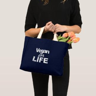 Vegan for LIFE (wht) Mini Tote Bag