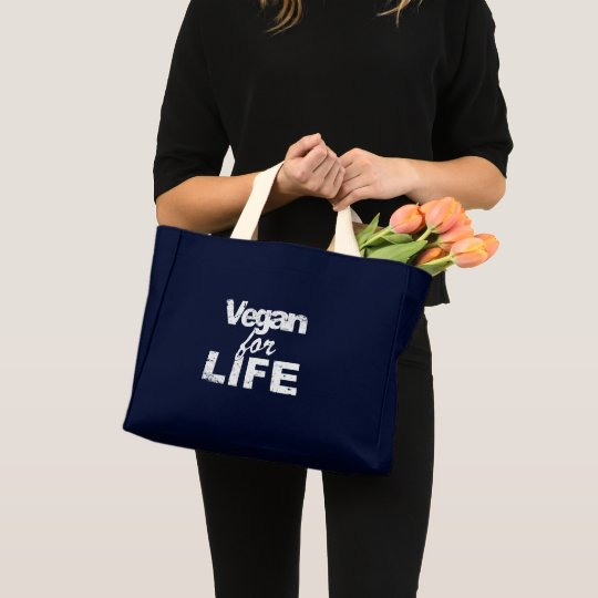 Vegan for LIFE (wht) Mini Tote Bag