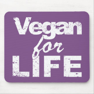 Vegan for LIFE (wht) Mouse Pad