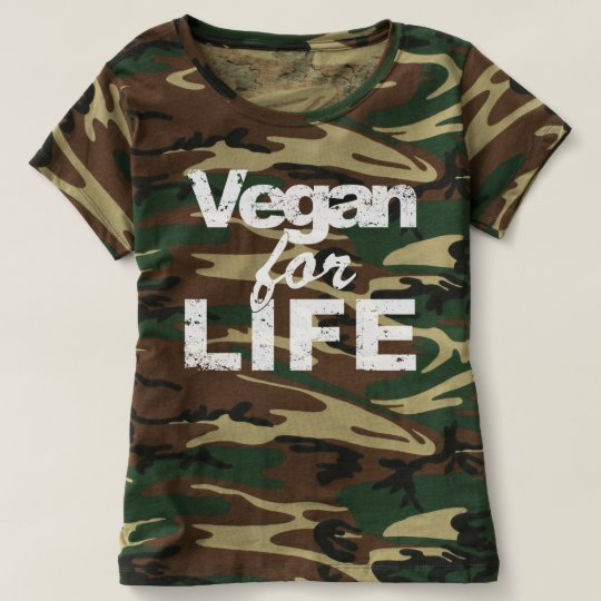 Vegan for LIFE (wht) T-shirt