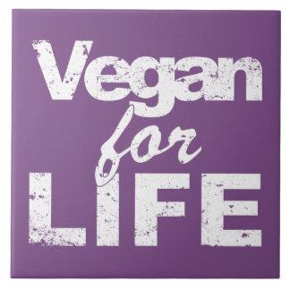Vegan for LIFE (wht) Tile