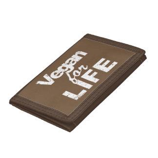 Vegan for LIFE (wht) Tri-fold Wallet