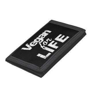 Vegan for LIFE (wht) Trifold Wallet