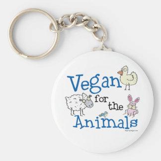 Vegan for the Animals Basic Round Button Keychain