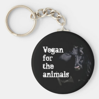 Vegan for the animals - Cow Keychain