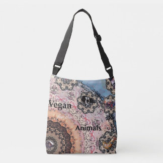 Vegan for the animals crossbody bag