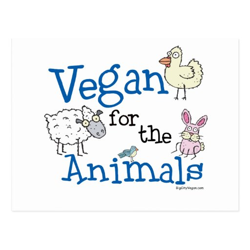 Vegan for the Animals Post Cards