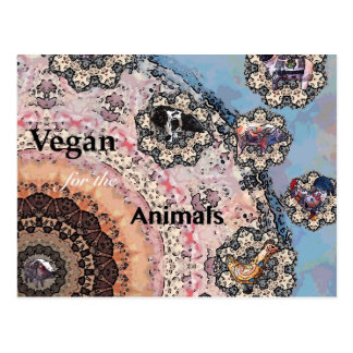 Vegan for the animals postcard