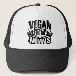 Vegan for the animals trucker hat