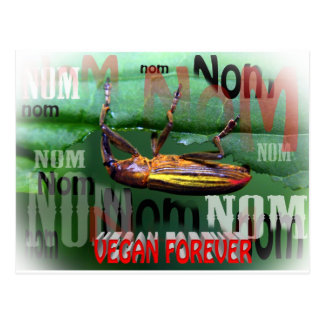 vegan forever postcard