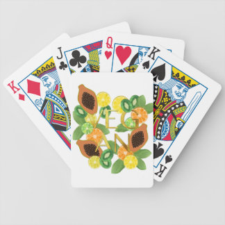 Vegan fruit bicycle playing cards