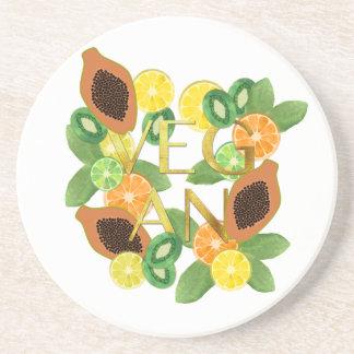 Vegan fruit coaster