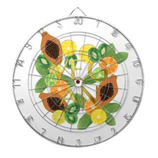 Vegan fruit dartboard