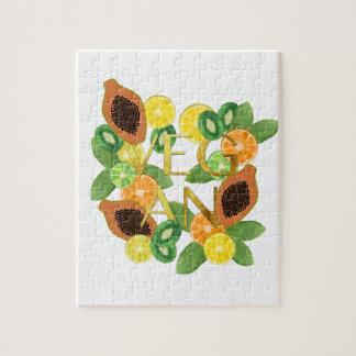 Vegan fruit jigsaw puzzle