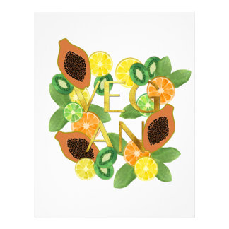 Vegan fruit letterhead