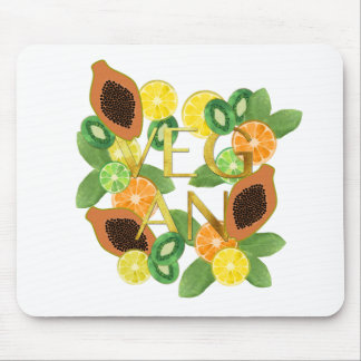 Vegan fruit mouse pad