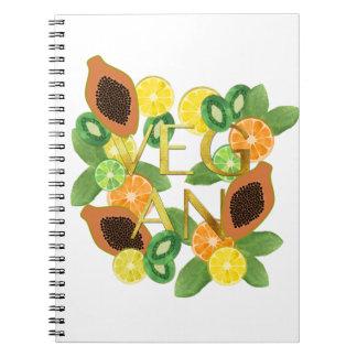 Vegan fruit notebooks