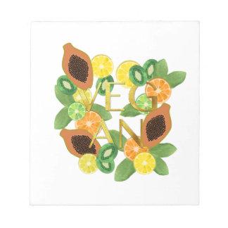 Vegan fruit notepad