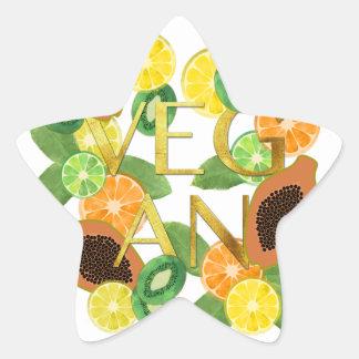 Vegan fruit star sticker