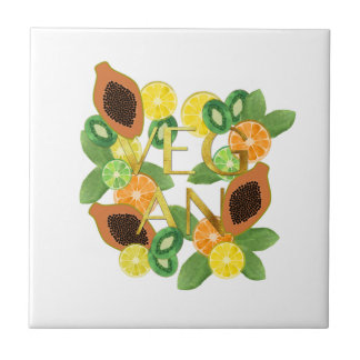 Vegan fruit tile