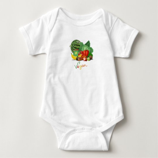 Vegan Fruits Baby Bodysuit