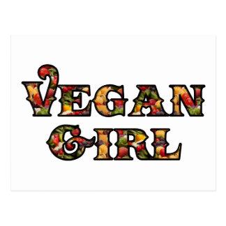 Vegan Girl Post Card