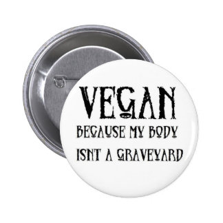 Vegan Graveyard 2 Inch Round Button