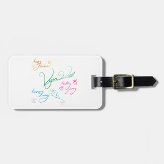 Vegan & happy lifestyle luggage tag