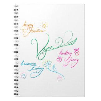 Vegan & happy lifestyle notebook