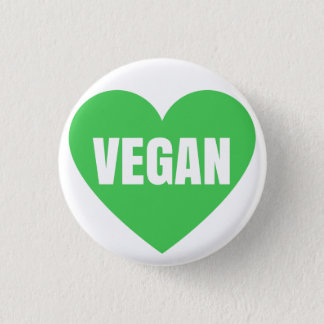 VEGAN HEART 1 INCH ROUND BUTTON
